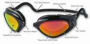 Clic Sportbril goggle small Geel/oranje