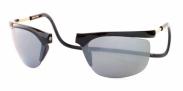 Clic Zonnebril rectangle grijs Zwart/spiegelglazen