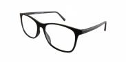 Fangle Biobased leesbril big mat zwart +2.0