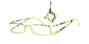 HIP Leesbril gestreept dubbel lime/zwart +1.5