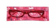 HIP Leesbril rood met bloemen +1.5