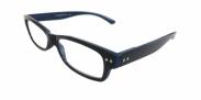 HIP Leesbril zwart blauw +3.0