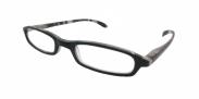 HIP Leesbril zwart/grijs gestreept +3.0