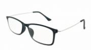 HIP Leesbril zwart/metaal +1.0