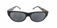 HIP Zonneleesbril Panter zwart/wit +2.0