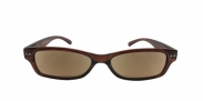 HIP Zonneleesbril bruin +3.0