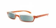 HIP Zonneleesbril oranje met strass +1.0