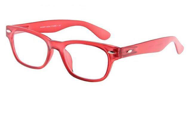 0505bc3e58a656 Leesbril INY Woody G14600 rood transparant +4.00