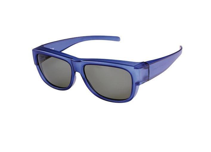 FitOfar overzetzonnebril blauw junior met grijze lens VZ0103C