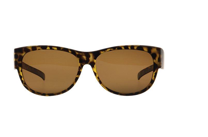 FitOfar overzetzonnebril bruin dames met bruine lens VZ0023B
