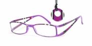 HIP Leesbril gestreept dubbel paars/zwart +2.5