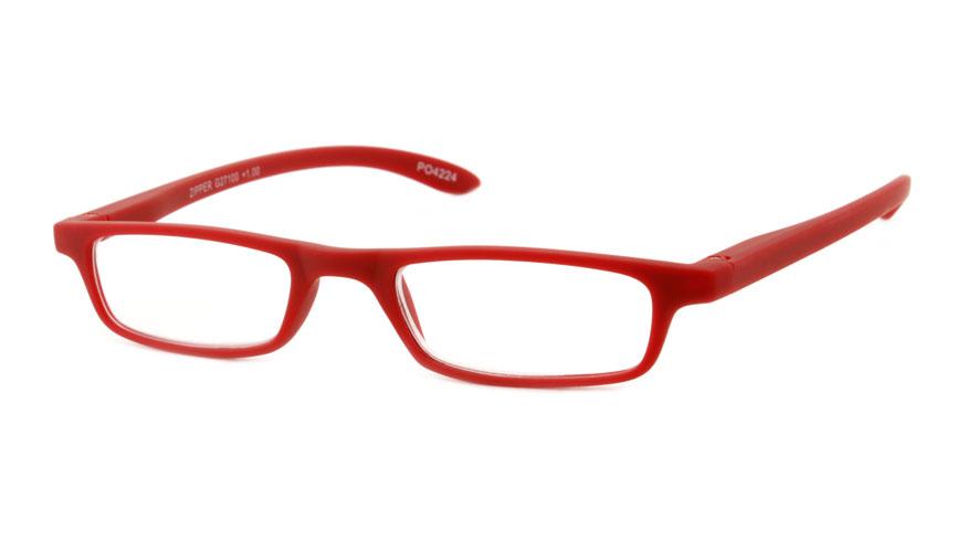 Leesbril INY Zipper G27100 mat rood +3.00