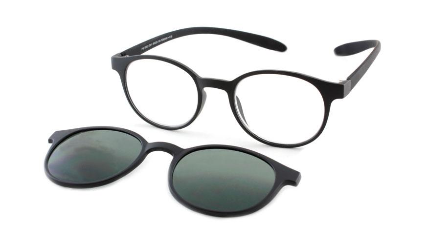Lees en zonneleesbril in één Proximo PRIS002 C01 zwart +2.00