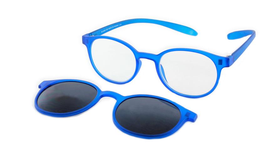 Lees en zonneleesbril in één Proximo PRIS002 C06 blauw +2.50