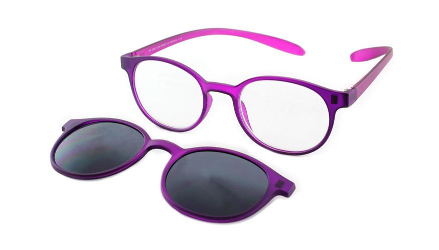 Lees en zonneleesbril in één Proximo PRIS002 C08 paars +2.00