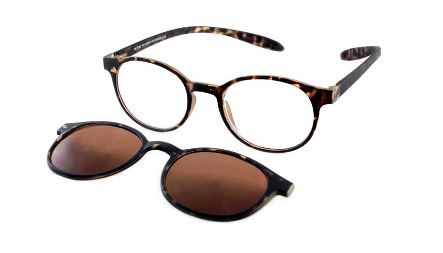 Lees en zonneleesbril in één Proximo PRIS002 C28 havanna +1.50