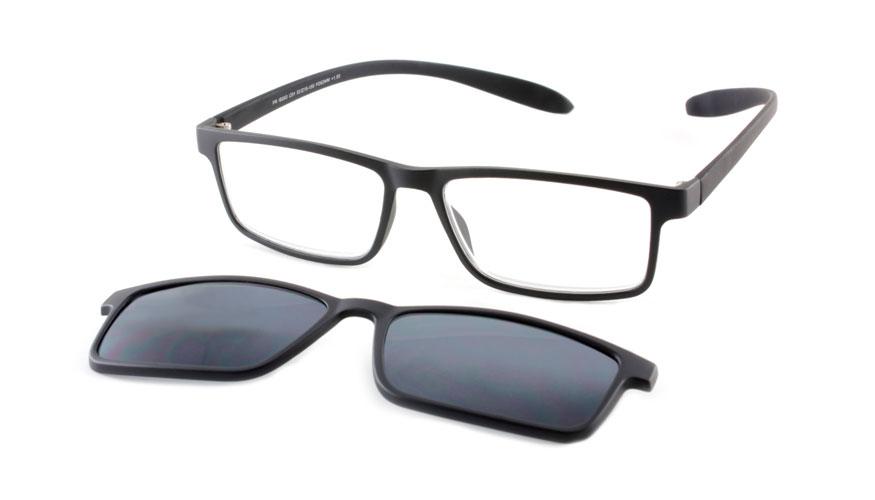 Lees en zonneleesbril in één Proximo PRIS003 C01 zwart +2.50
